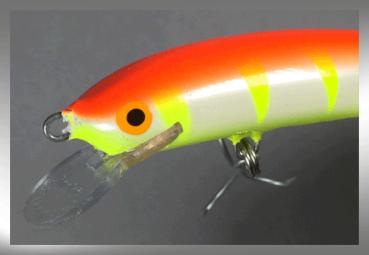 Nils Master Invincible 12 cm Floating Wobbler, Farbe: 070 orange/weiß/gelb gestreift, Gewicht: 24 Gramm