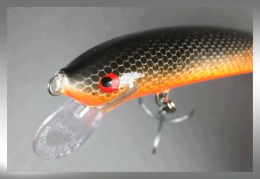 Nils Master INVINCIBLE Floating Wobbler, Größe: 12 cm, Farbe: 152 Orange-Black-Fish, Gewicht: 24 Gramm