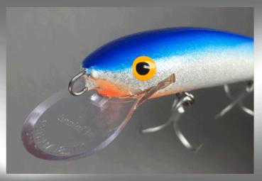 Nils Master INVINCIBLE Floating Wobbler, Größe: 15 cm, Farbe: 046 blau/weiß/glitter, Gewicht: 30 Gramm